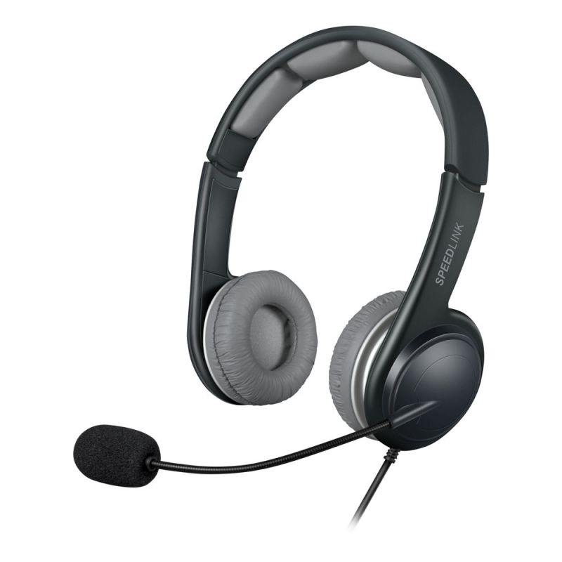 SPEEDLINK Sonid USB Stereo Headset with Microphone, Black/Grey