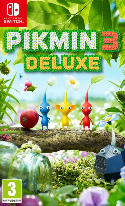 Pikmin 3 Deluxe With Microfiber Cloth & Sticker Sheet (Switch)