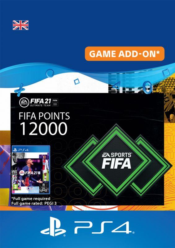 12000 FIFA 21 FUT Points Pack - Digital Code - UK Account