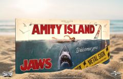 Jaws Metal Sign