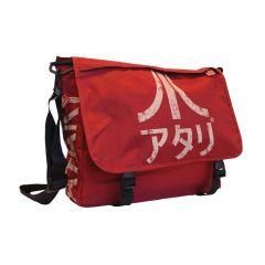 ATARI Messenger Bag with Japanese Logo, Crimson Red