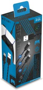 Stealth SP-C30V Superfast Play & Charge Cables - Triple Pack (PS5)