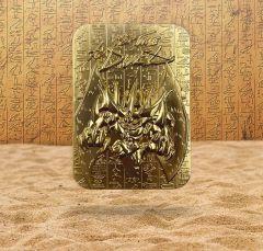 Yu-Gi-Oh! - Obelisk The Tormentor 24K Gold Plated Metal God Card