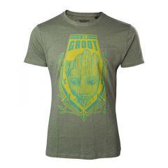 MARVEL COMICS Guardians of the Galaxy Vol. 2 Men's I am Groot T-Shirt, Large, Green
