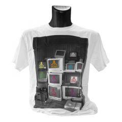 ATARI Computer Screens Mens Small T-Shirt, White