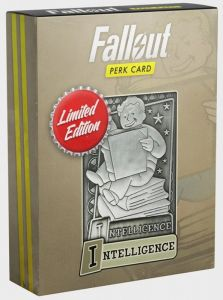 Fallout - Limited Edition Replica Perk Card - Intelligence