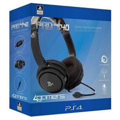 4Gamers PRO4-40 Officially Licensed Stereo Gaming Headset Black (PS4)