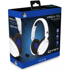 4Gamers PRO4-50s Stereo Gaming Headset - White (PS4)