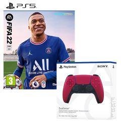 FIFA 22 & DualSense Controller Cosmic Red (PS5)
