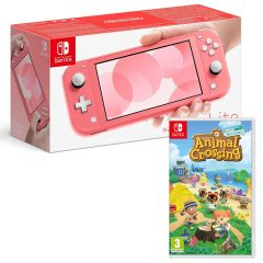 Nintendo Switch Lite Console - Coral with Animal Crossing New Horizons (Switch)