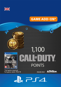 1100 Call of Duty Modern Warfare Points - Digital Code - UK account