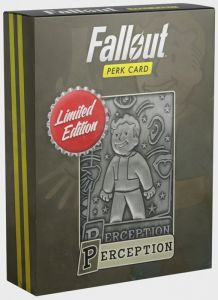 Fallout - Limited Edition Replica Perk Card - Perception