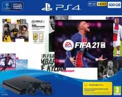 PlayStation 4 500GB FIFA 21 Bundle with Additional DualShock 4 Controller (PS4)