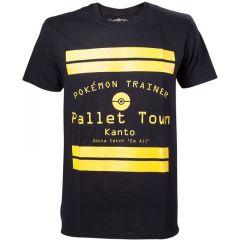 POKEMON Pallet Town Kanto Men's T-Shirt, Small, Black