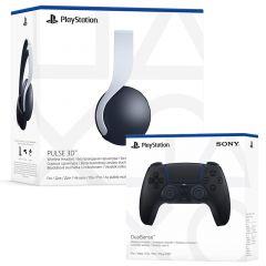 PlayStation 5 Pulse Headset & DualSense Controller - Midnight Black (PS5)