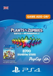 Plants vs Zombies: Battle For Neighborville - 7500 (+1200 Bonus) Rainbow Stars - Digital Code - UK account