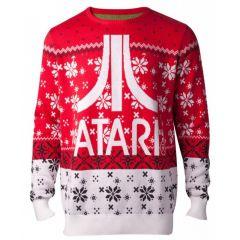 ATARI Logo Christmas Knitted Sweater, Male, Small, Multi-colour