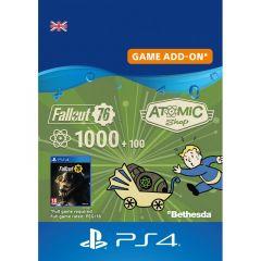 Fallout 76 1000 + 100 Atoms - Digital Code - UK account