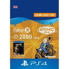 Fallout 76 2000 + 400 Atoms - Digital Code - UK account