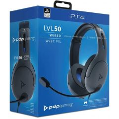 LVL 50 PS4 Wired Headset Grey