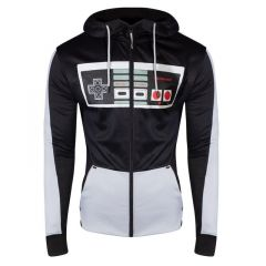 NES Controller Front Zipper Full Length Hoodie - Extra Large