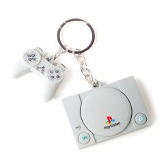 Playstation Console & Controller 3D Rubber Keychain