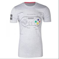 SNES Controller Super Power T-Shirt - Extra Extra Large