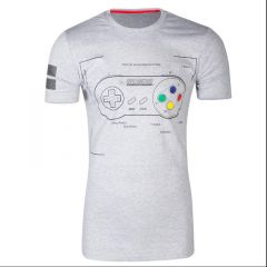 SNES Controller Super Power T-Shirt - Extra Large