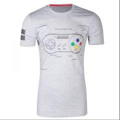 SNES Controller Super Power T-Shirt - Large