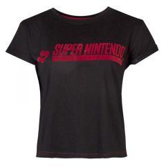 SNES Logo Cropped T-Shirt - Large