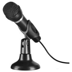 SPEEDLINK Capo Desk & Hand Microphone with 2m Cable, Black