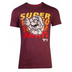 Super Mario Bros. Space Dye Mario T-Shirt - Large