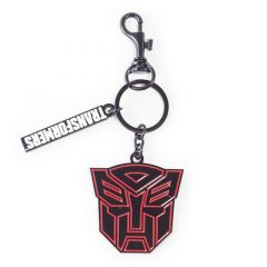 Transformers Autobots Logo Symbol Metal Keychain, Unisex, Black/Red