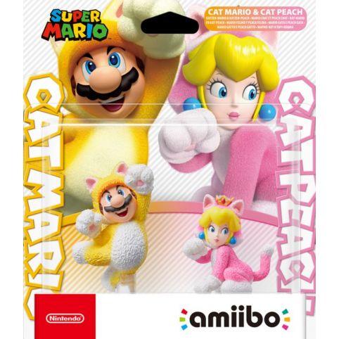 Amiibo Cat Mario And Cat Peach Double Pack - Super Mario Collection (Amiibo)