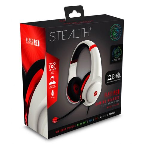 STEALTH XP-Glass Edition Gaming Headset - Red