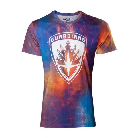 MARVEL COMICS Guardians of the Galaxy Vol. 2 Men's All-over Galaxy T-Shirt, Extra Extra Large, Multi-colour