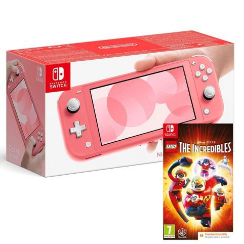 Nintendo Switch Lite Console - Coral With Lego The Incredibles [Code in Box] (Switch)