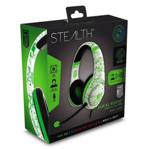 STEALTH XP-Conqueror Gaming Headset - Arctic Green