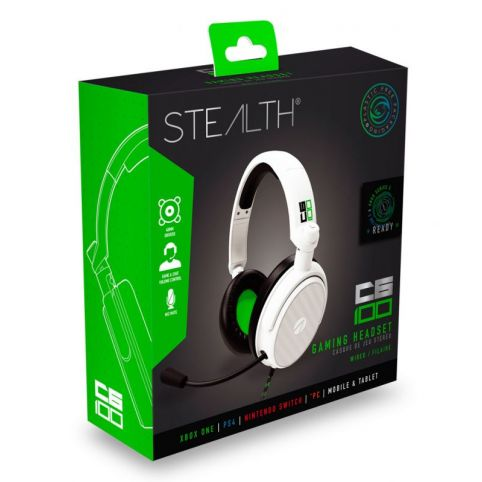 STEALTH C6-100 Stereo Gaming Headset - Green/White