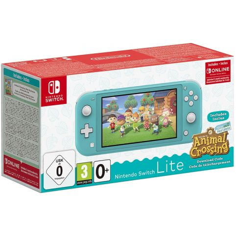 Nintendo Switch Lite Turquoise + Animal Crossing: New Horizons + NSO 3 Months (Switch)