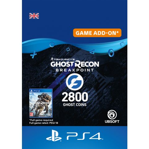 Ghost Recon Breakpoint 2400 + 400 Ghost Coins - Digital Code - UK account