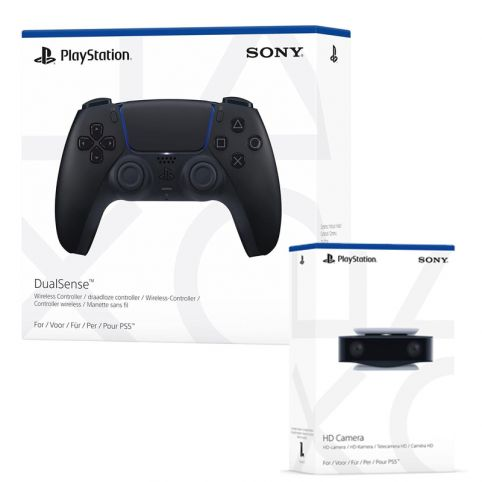 PlayStation 5 DualSense Controller - Midnight Black & HD Camera (PS5)