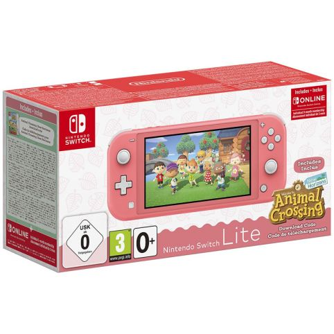 Nintendo Switch Lite Coral + Animal Crossing: New Horizons + NSO 3 Months (Switch)