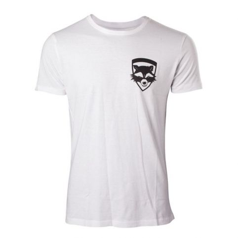 MARVEL COMICS Guardians of the Galaxy Vol. 2 Men's Rocket T-Shirt, Extra Large, White