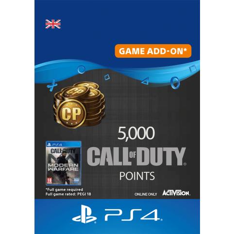 5000 Call of Duty Modern Warfare Points - Digital Code - UK account