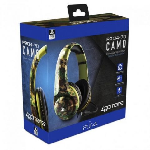 4Gamers PRO4-70 Wired Stereo Gaming Headset Camo (PS4)