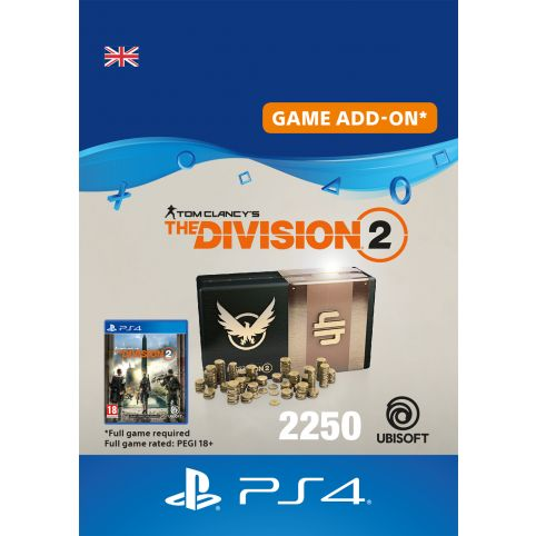 Tom Clancy's The Division 2 2250 Premium Credits - Digital Code - UK account