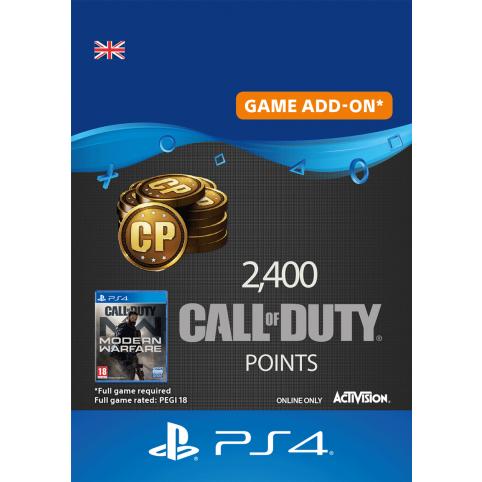 2400 Call of Duty Modern Warfare Points - Digital Code - UK account