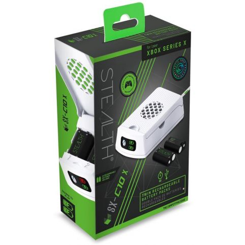 Stealth SX-C10X Twin Chargeable Battery Packs - White (Xbox Series X)