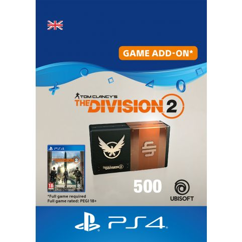 Tom Clancy's The Division 2 500 Premium Credits - Digital Code - UK account